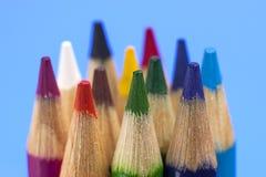 小组着色铅笔 免版税库存图片