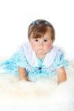 小滑稽的女婴 免版税图库摄影