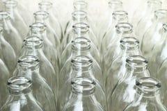 小组空的玻璃瓶 库存图片