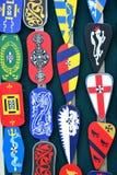 小组纹章学盾徽章 免版税库存图片