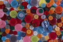 小组缝合的按钮 免版税库存图片