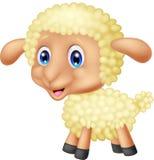 小绵羊动画片 免版税图库摄影