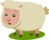 小绵羊被隔绝的传染媒介 免版税库存图片