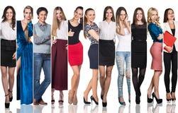 小组美丽的少妇 免版税图库摄影