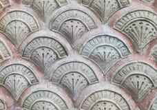小组自然在龙皮肤的水泥石头的无缝的样式喜欢连接作为墙壁或难倒在葡萄酒样式的形状样式 免版税库存图片