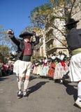 小组舞蹈家在巴伦西亚,西班牙 图库摄影