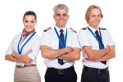 小组航空公司乘员组 免版税图库摄影