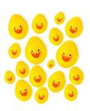小组黄色橡胶鸭子 免版税库存图片