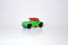 小绿色玩具军事吉普 免版税库存图片