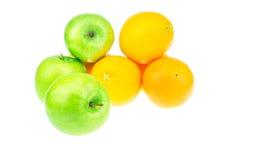 小组绿色苹果前面  库存照片