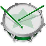 小绿色鼓 免版税库存图片