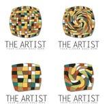 小组艺术企业商标设计 库存图片