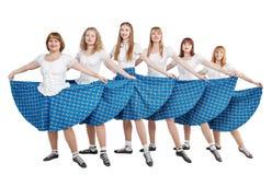 小组苏格兰人舞蹈的舞蹈家 免版税图库摄影