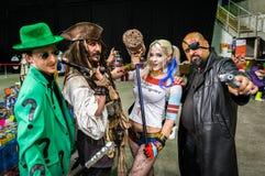 小组英国cosplayers 库存照片