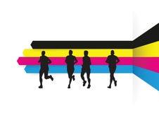 小组赛跑者 库存图片
