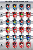 小组足球欧洲 免版税库存照片