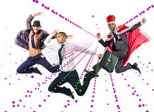 小组跳舞的抽象概念舞蹈家 免版税图库摄影