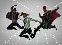 小组跳舞的抽象概念舞蹈家 免版税库存图片