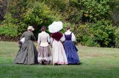 小组从过去的妇女, 库存图片