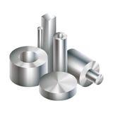 小组金属钢反对锻件 向量例证