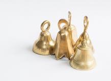 小组黄铜响铃。 免版税图库摄影