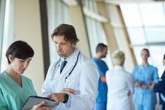 小组医院的医护人员 免版税库存图片