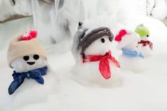 小组雪人 免版税图库摄影