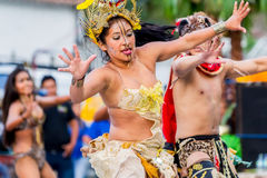 小组青年Huaorani人 免版税图库摄影