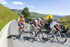 小组非职业骑自行车者 免版税库存照片