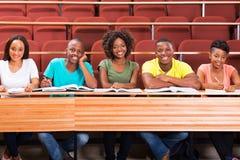 小组非洲人学生 免版税库存图片