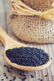 黑小茴香籽 库存图片