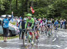 小组骑自行车者-环法自行车赛2014年 免版税库存照片