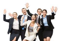 小组高兴的经理 库存图片