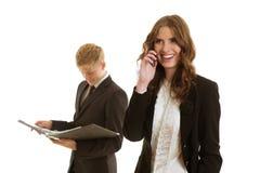 小组businesspersons工作 免版税库存照片