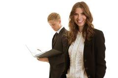 小组businesspersons工作 库存图片