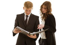小组businesspersons工作 库存照片