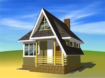 小1个房子的位置 免版税库存照片