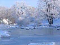 小2海岸的河 库存图片