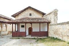 小Kenesa (犹太教堂)在chufut无头甘蓝,克里米亚 免版税库存图片