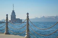 少女` s塔在伊斯坦布尔/Turkey, 2016年 库存照片