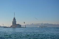 少女` s塔在伊斯坦布尔/Turkey, 2016年 免版税库存图片