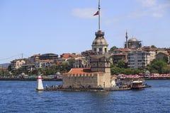 少女` s塔,伊斯坦布尔 免版税库存图片