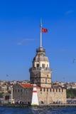 少女` s塔,伊斯坦布尔 库存照片