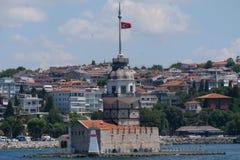 少女` s塔, Leander ` s塔,土耳其语, Kız Kulesi,在伊斯坦布尔,土耳其 库存图片
