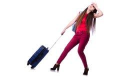 少妇准备好在暑假 免版税库存照片