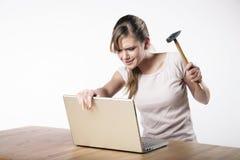 少妇在工作 免版税图库摄影