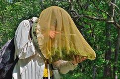 少妇昆虫学家16 库存照片