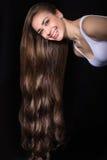 少妇照片有长的头发的 库存照片