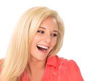 少妇笑 免版税图库摄影