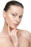 少妇纵向有理想的皮肤的 库存图片